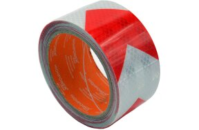 REFLECTIVE TAPE 50mmx5m RED-WHITE